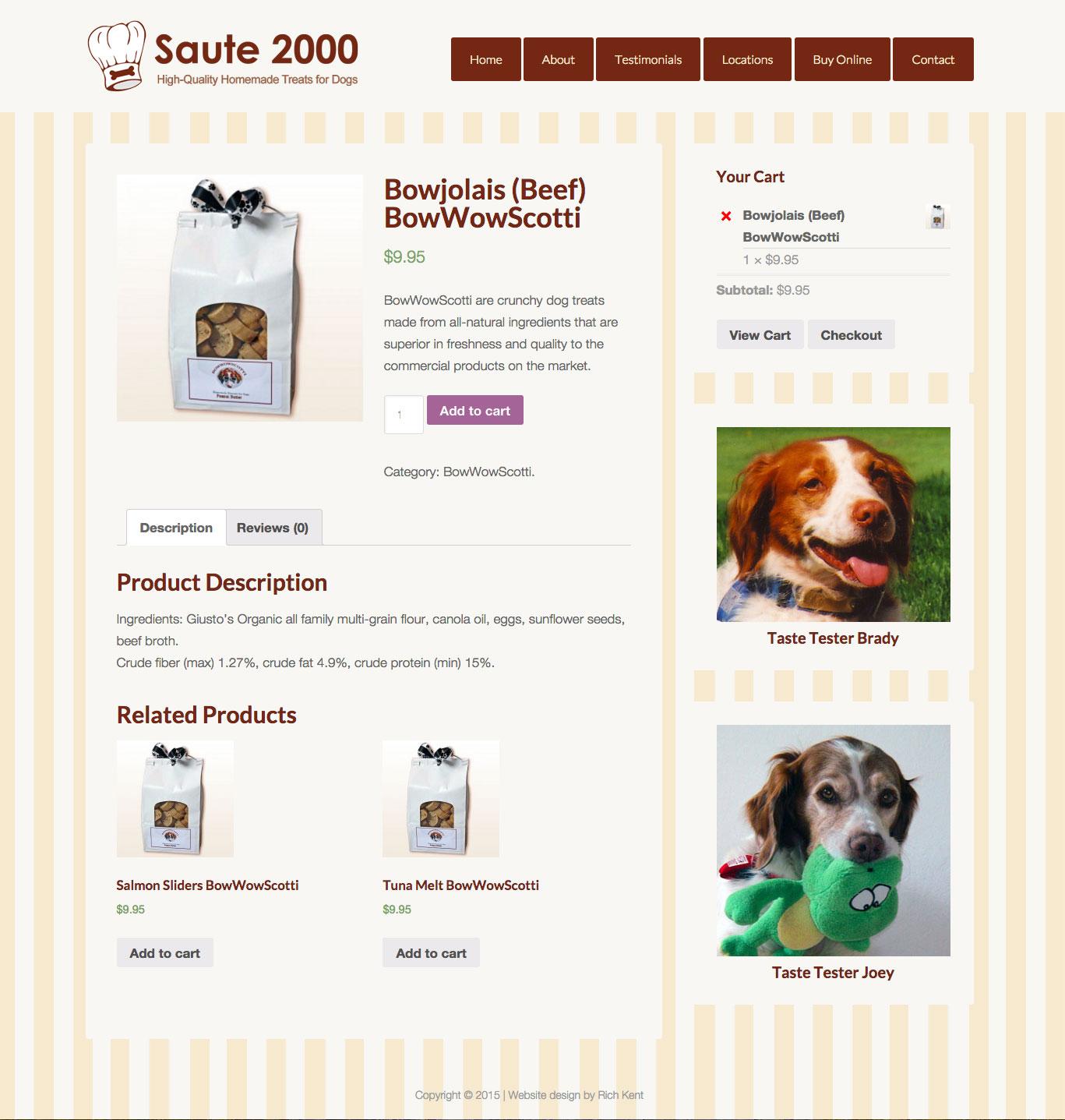 Saute2000.com Store Page